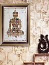 E-HOME® Framed Canvas Art,  The Buddha Framed Canvas Print