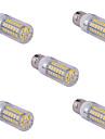 15W E26/E27 Ampoules Mais LED T 60 SMD 5730 1500 lm Blanc Chaud / Blanc Froid AC 85-265 V 5 pieces