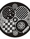 Abstrakt - Finger/Tå/Andra Metall - 1 - styck 6x6 - cm