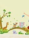 väggdekorationer väggdekaler, tecknade djur pvc vägg klistermärken