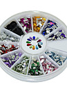 600Pcs 12 Color Drop Shape Acrylic Diamond Nail Art  Decoration kits