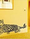 miljö avtagbar cheetah formad PVC vägg sticker