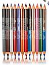 Eyeliner Crayons Sec Dense / Gloss paillete / Gloss colore / Longue Duree / Naturel / Sechage rapide / RespirableNoir / Marron / Bleu /
