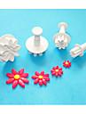 Four-C fyrkantig plast fondant kaka Utsmyckning kolv fräsar, jul kolv fräsar, socker hantverksredskap
