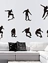 miljö avtagbar skridsko pojke pvc vägg sticker