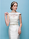Wedding  Wraps Coats/Evening Jackets Lace White/Beige Bolero Shrug
