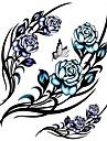 Tatueringsklistermärken - Mönster/Stor storlek/Ländrygg/Waterproof - Blomserier - till Dam/Herr/Vuxen/Tonåring - Multifärgad - Papper - 1 - styck