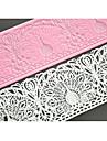 fyra c tårta bakformen silikon tårta matta spetsar pad för kaka Utsmyckning, silikonmatta fondant tårta verktyg färgen rosa