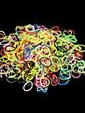 600pcs diy regnbåge färg vävstol stil silikon band armband 600pcs band, en påse s-clips och 1 krok +1 box