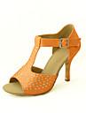 Chaussures de danse (Noir/Bleu/Jaune/Rose/Violet/Rouge/Blanc/Fuchsia) - Personnalisable - Talons personnalises - Satin -Danse