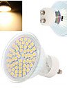4W GU10 LED-spotlights 60LED SMD 3528 300-560 lm Varmvit / Kallvit AC 220-240 V 1 st