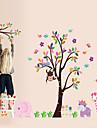 väggdekorationer väggdekaler, stil skog djur pvc väggdekorationer