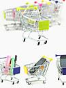mini almacenamiento lindo compras simulacion escritorio carrito aleacion (colores aleatorios)