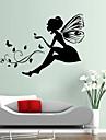 väggdekorationer Väggdekaler, stil ristade version blomma fairy jungfru pvc väggdekorationer