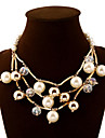 Vintage/Party/Work/Casual Alloy/Cubic Zirconia/Pearl Statement