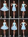 mezclar& vestidos de partido corto de mini gasa / y encaje 6 estilos vestidos de dama de honor (2840153)