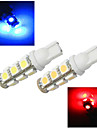 2 pcs ding yao T10 5W 13X SMD 5050 1200LM K Cool White/Red/Blue/Yellow Halogen Bulbs DC 24/DC 12V