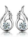kvinnors högkvalitativa sterling silver plätering örhängen