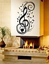 Musique Mode Forme Stickers muraux Stickers avion Stickers muraux decoratifs Materiel Amovible Decoration d\'interieur Calque Mural