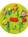 valentine ros blommor fondant tårta formar choklad mögel för köket bakning socker kaka dekoration verktyg