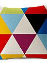modern stil färgad geometrisk mönstrad bomull / linne dekorativa örngott