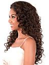 kvinnor brasilianskt jungfru hårfärg (# 1 # 1b # 2 # 4) lockigt hår spetsar front peruker