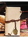 vintage läder anteckningsbok med läder linjal bookmarks21 * 12 * 2 cm (8,27 * 4,72 * 0,79 tum)