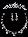 Fashion Ladies\'/Women\'s Alloy Wedding/Party Jewelry Set With Rhinestone