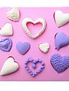 forme de coeur fondant silicone moules a gateau moule de chocolat pour l\'outil sugarcraft decoration cuisine de cuisson