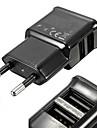universella kompakta dubbla usb-utgång eu plug nätadapter för iphone och samsung