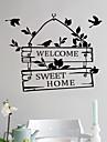 Wall Stickers Väggdekaler, stil välkommen hem engelsk pvc väggdekorationer