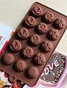 bakeware silikon blommor bakformar för chokladkaka gelé (slumpmässiga färger)