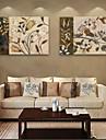 e-home® stretch panza floare arta set pictura decorativa de 2