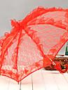 """Nuntă / Plajă / Zilnic / Mascaradă Dantelă Umbrelă Mâner Cârlig 20.9""""(Approx.53cm) Metalic / Dantelă 22.8""""(Approx.58cm)"""