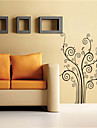 väggdekorationer väggdekaler, tecknad träd form pvc väggdekorationer