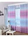 pays curtains® un panneau violet imprime floral rideau