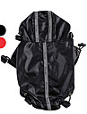 Dog / Cat Rain Coat Red / Black Spring/Fall Solid Waterproof