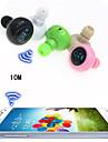 trådlöst sport headset anti-strålning mini stereo bluetooth in-ear hörlurar för iphone 6 / 6plus s6 (blandade färger)