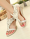 Women\'s Shoes Leatherette Wedge Heel Wedges/Platform/Open Toe Sandals Casual Black/Gold