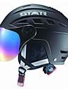 stjärniga höst / vinter abs skidor / snowboard hjälm med solglasögon