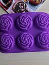 bakeware silicon au crescut matrite de copt pentru tort de ciocolată jeleu (culori aleatorii)