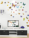 couleurs mignon de bande dessinee de style de Stickers muraux stickers muraux de papillon pvc autocollants