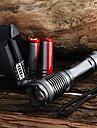 LED-Ficklampor / Ficklampor LED 5 Läge 2000 Lumen Justerbar fokus / Vattentät Cree XM-L T6 18650 / AAACamping/Vandring/Grottkrypning /