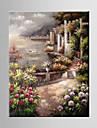 Peint a la main Paysage / A fleurs/BotaniqueMediterraneen Un Panneau Toile Peinture a l\'huile Hang-peint For Decoration d\'interieur