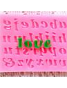 bakeware silikon brev bakformar för fondant godis chokladkaka