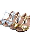Zapatos de baile (Plata/Oro) - Danza latina/Salsa - Personalizados - Tacon Personalizado
