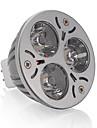 3W GU5.3(MR16) Spoturi LED MR16 3 LED Putere Mare 250 lm Alb Cald DC 12 V 1 bc