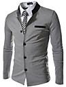 Lång ärm - Kostymer & Blazers ( Bomullsblandning )till MÄN Rund - Casual