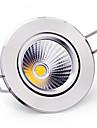 6W Takglödlampa Infälld retropassform COB 400-500 lm Varmvit / Kallvit Dimbar AC 220-240 V 5 st