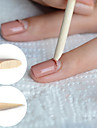 50st nail art trä pinnar nagelband pusher uv gel polish remover pedikyr manikyr verktyg för borttagning